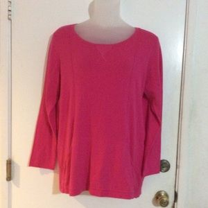 1775 Pink Pull-over 2 pocket Tunic Sweater